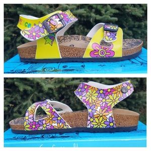 Peace, Love & Flowers Calceo Sandals